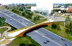 BAM Nuttall set for Glasgow Sighthill bridge: Pedestrian bridge will link Bridge Construction, Construction Design, Landscape Architecture, Landscape Design, City Skylines Game, Real Estate Website Design, Linear Park, Corridor Design, Urban Planning