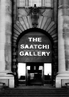 Saatchi Gallery favorite gallery in London...know for exposing unknown contemporary artists to London and beyond.