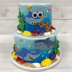 Marvelous Image of Childrens Birthday Cake Ideas . Childrens Birthday Cake Ideas Ba Shark Cake Let Them Eat Cake Ba Shark Shark Birthday Shark Birthday Cakes, Baby Birthday Cakes, Baby Boy 1st Birthday, Card Birthday, Birthday Ideas, Birthday Greetings, Happy Birthday, Cake Baby, Baby Hai