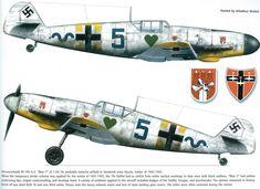 """Messerschmitt Bf 109 G-2 """"blue 5"""" 7./JG 54"""