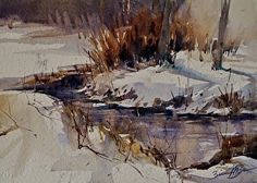 Stillness of Winter by Brienne Brown in the FASO Daily Art Show
