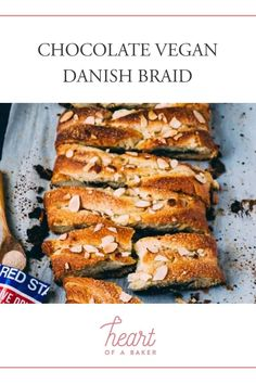 Looking for a vegan chocolate dessert recipe? Click through to find out how to make this Chocolate Vegan Danish Braid | Heart of a Baker #veganrecipe #chocolatedessert Chewy Chocolate Cookies, Vegan Chocolate, Chocolate Desserts, Vegan Cupcakes, Vegan Cake, Vegan Bread, Vegan Dessert Recipes, Delicious Vegan Recipes, Tasty