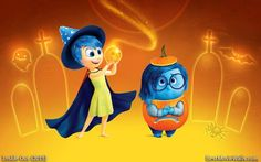 #Joy and #Sadness are all dressed up for #Halloween :} #InsideOut
