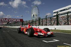 Михаэль Шумахер на стартовой решётке Гран При Японии 2006 года