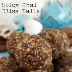 These Spicy Chai Bliss Balls evoke memories of calming restorative yoga sessions, balmy nights in Bali, tropical flowers and a warming but soothing sense of well being. The smells of cardamom, cinnamon, cloves, ginger and allspice are nothing less than divine!