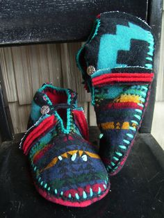 Custom mocs from Pendleton wool - gorgeous luxury - if only I still lived in MN and not AZ!