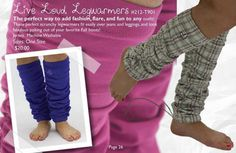 Aren't these the neatest leg warmers for tweens? Email vickyb.stylist@peekaboobeans.com to order!