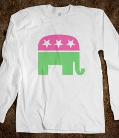Pink and Green Republican Long Sleeve. Aaah yes, my preppy pink and green color combo obsession...