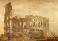 Colosseum in Rome - Charles-Louis Clerisseau - Drawings, Prints ...