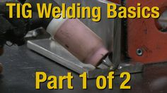 Learn great TIG Welding Techniques in Part 1 of this 2 part video. Great for beginners and intermediate welders alike. Don't be scared of TIG welding. See ho. Welding Classes, Welding Jobs, Arc Welding, Welding Table, Metal Welding, Welding Art, Welding Ideas, Welding Crafts, Tig Welding Tips