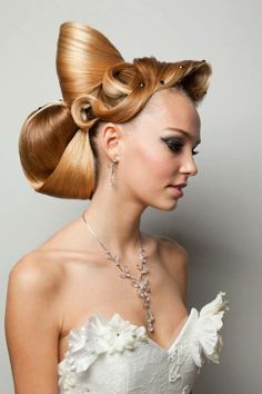 Wow what a nice hair style especially for bride..!!!