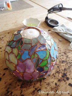 パンジーのティファニーランプ (05/17) - Stained Glass : Stained Attend