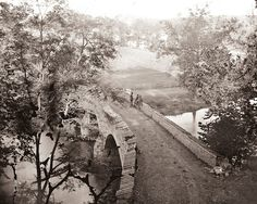 Burnside Bridge at Antietam Civil War battlefield (Alexander Gardner, 1862)