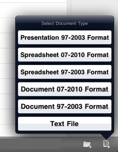 The iPad app is QuickOffice Pro HD. It has worked well for us in the area of creating new Word, Excel and PowerPoint documents right on our iPad.