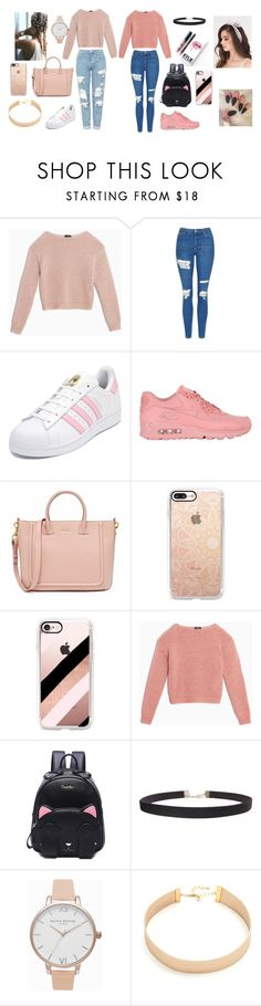 """Best Friends"" by carolina-dias-martins ❤ liked on Polyvore featuring Max&Co., Topshop, adidas, NIKE, Casetify, Kylie Cosmetics, Humble Chic, Olivia Burton and Lacey Ryan"