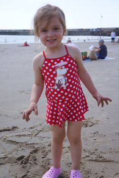 Toddler outfit of the day post: the swimsuit edition  4 different swimsuits on one day! Our daughter was like Beyonce :D
