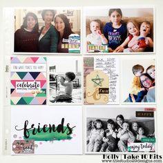 Painted Ladies Journal: Friends Pocket Page February 2016 Take10Kit  www.paintedladiesjournal.com