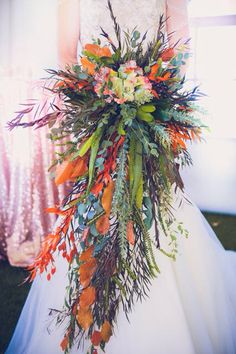 Create movement with different foliage.  Find more inspiration @ stemsfloral.ca
