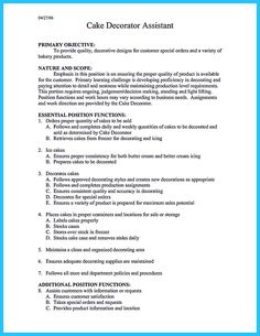 Cake Decorator Resume Endearing Nice Write Properly Your Accomplishments In College Application .