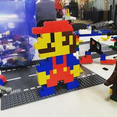 On instagram by thevinylcountdown.mn #gameboy #microhobbit (o) http://ift.tt/1WPuG2M my friend's kid to a Lego museum thing in Minneapolis and totally showed those kids who's bad. #lego #brick #legoland #mario #supermario #mariolego #8bit #80s #toycrewbuddies #retrocollective #retroart #nes #nintendo #famicom #superfamicom  #3ds