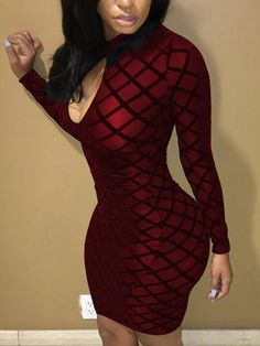 Lovely Chic Printed Skinny Wine Red Mini Dress We Miss Moda is a leading Women's Clothing Store. Offering the newest Fashion and Trending Styles. Tight Dresses, Club Dresses, Sexy Dresses, Fashion Dresses, Cheap Dresses, Fashion Pants, Women's Fashion, Fashion Trends, Buy Dress