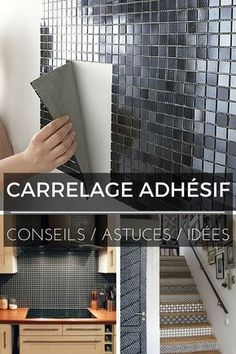 Carrelage Adhésif : Tout Ce Que Vous Devez Savoir ! Adhesive Tiles, Home Staging, Interior Design Living Room, Interior And Exterior, Diy Home Decor, Home Improvement, Sweet Home, New Homes, Decoration
