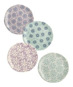 Grasslands Road This Spring Accent Plates - Set of Four is perfect! #zulilyfinds