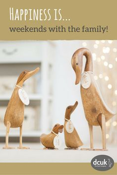 Our Natural finish ducks make wonderful personalised gifts and home decor accessories! Available individually, or as a family set. Explore our website for more quacking gift ideas!
