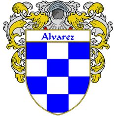 Alvarez Coat of Arms   http://spanishcoatofarms.com/ has a wide variety of products with your Hispanic surname with your coat of arms/family crest, flags and national symbols from Mexico, Peurto Rico, Cuba and many more available upon request.