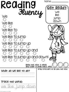 Reading Comprehension Passages ~ Fluency Phrases