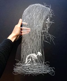 Cut paper illustrations by Maude White from Colossal