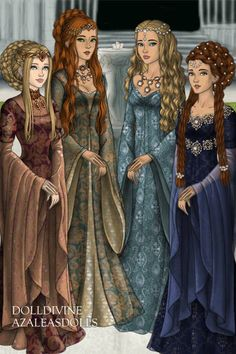 Ladies of the court ~ by Maca ~ created using the LotR Hobbit doll maker   DollDivine.com