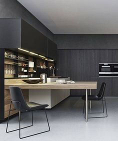 Black and natural Kitchen | Home Decor | Interior Design Inspiration | Cucina Moderna