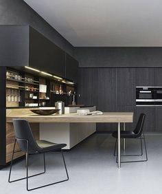 Black and natural Kitchen | Home Decor | Interior Design Inspiration | Cucina Moderna