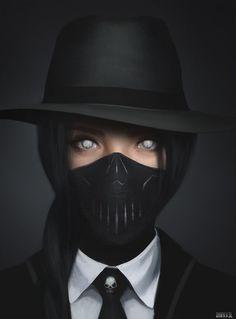 Killer by on DeviantArt - Landlikes Sites Character Inspiration, Character Art, Evvi Art, Cyberpunk Girl, Digital Art Girl, Masks Art, Dark Anime, Dark Fantasy Art, Anime Art Girl