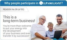 When inviting you to participate in Whole World, we mean a serious long-term business, so you can safely invest maximum efforts to its development!  In a very short time, your Whole World account will become a great asset that will bring you and your family serious financial support.  And whatever happens, your work will never be lost, because this business account can be transferred by inheritance!