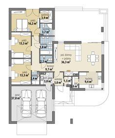 House Layout Plans, House Layouts, Bungalow House Plans, Dream House Plans, Home Design Decor, House Design, Single Storey House Plans, Simple House Plans, Container House Plans