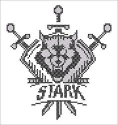 BOGO FREE! Cross stitch  -Game of the Thrones - Shield Stark Symbol -pdf cross stitch pattern  -  pattern instant download #74 by Rainbowstitchcross on Etsy