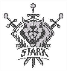 BOGO FREE! Cross stitch  -Game of the Thrones - Shield Stark Symbol -pdf cross stitch pattern  -  pattern instant download #74 by Rainbowstitchcross on Etsy