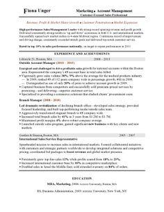 mba sample resume