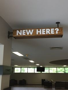 Potential signage for guests?interesting and gets visual focus. Church Interior Design, Church Graphic Design, Church Stage Design, Church Lobby, Church Foyer, Church Events, Lobby Design, Foyer Design, Church Welcome Center