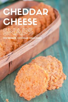 Simple sharp cheddar crackers pack a big crunch with a secret ingredient: Rice Krispies!