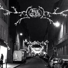 Paris' Rue Cler all dressed up for Christmas. Photo courtesy of lepetitparis on Instagram. #howiholiday