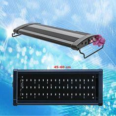 Iluminación LED para acuario - 45-60 cm Pantalla de luz led para acuario,regulable Pantalla de 54 Leds de alto brillo - 50 blancos + 4 azules Potencia de 3,5W 600 lúmenes aproximados Longitud pantalla 43 cm. - Con Brazos extensibles,desde 45 cm a 60 cm Luz Led, 5 W, Computer Keyboard, Selfie Stick, Fishbowl, Aquariums, Sparkle, Arms, Computer Keypad