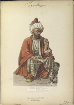 Chief of Volunteers. The Vinkhuijzen collection of military uniforms / Turkey, 1818. See McLean's Turkish Army of 1810-1817.
