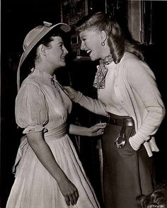 Ginger Rogers & June Allison    AHH!  June's in her Little Women outfit!! :D