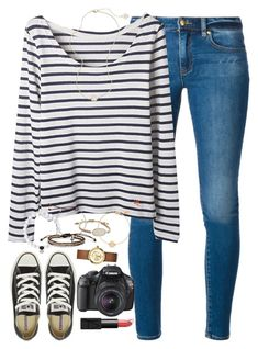 """""""First week of school: day 4"""" by kaley-ii ❤ liked on Polyvore featuring MICHAEL Michael Kors, Converse, Tasha, Nashelle, Catherine Michiels, Kendra Scott, Tory Burch, Canon, NARS Cosmetics and remi14th"""