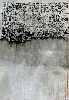 Helen Lyôn. Drawing/painting mysterious text.