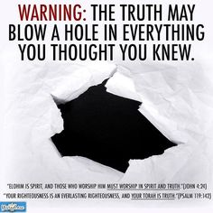 The truth will blow a hole in everything you thought you knew.