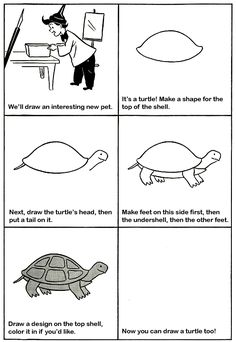 How to Draw a Turtle Kids Drawing Lesson.